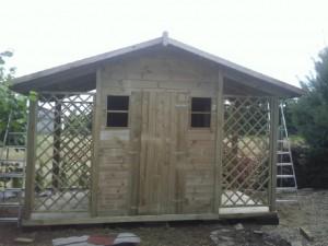 domek narzędziowy  z drewutnią 3,60 x 2,25