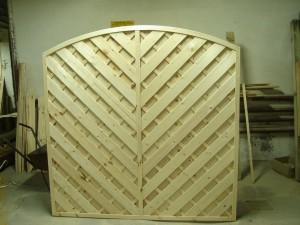 płot diagonalny Łuk 180 x 180 (1)
